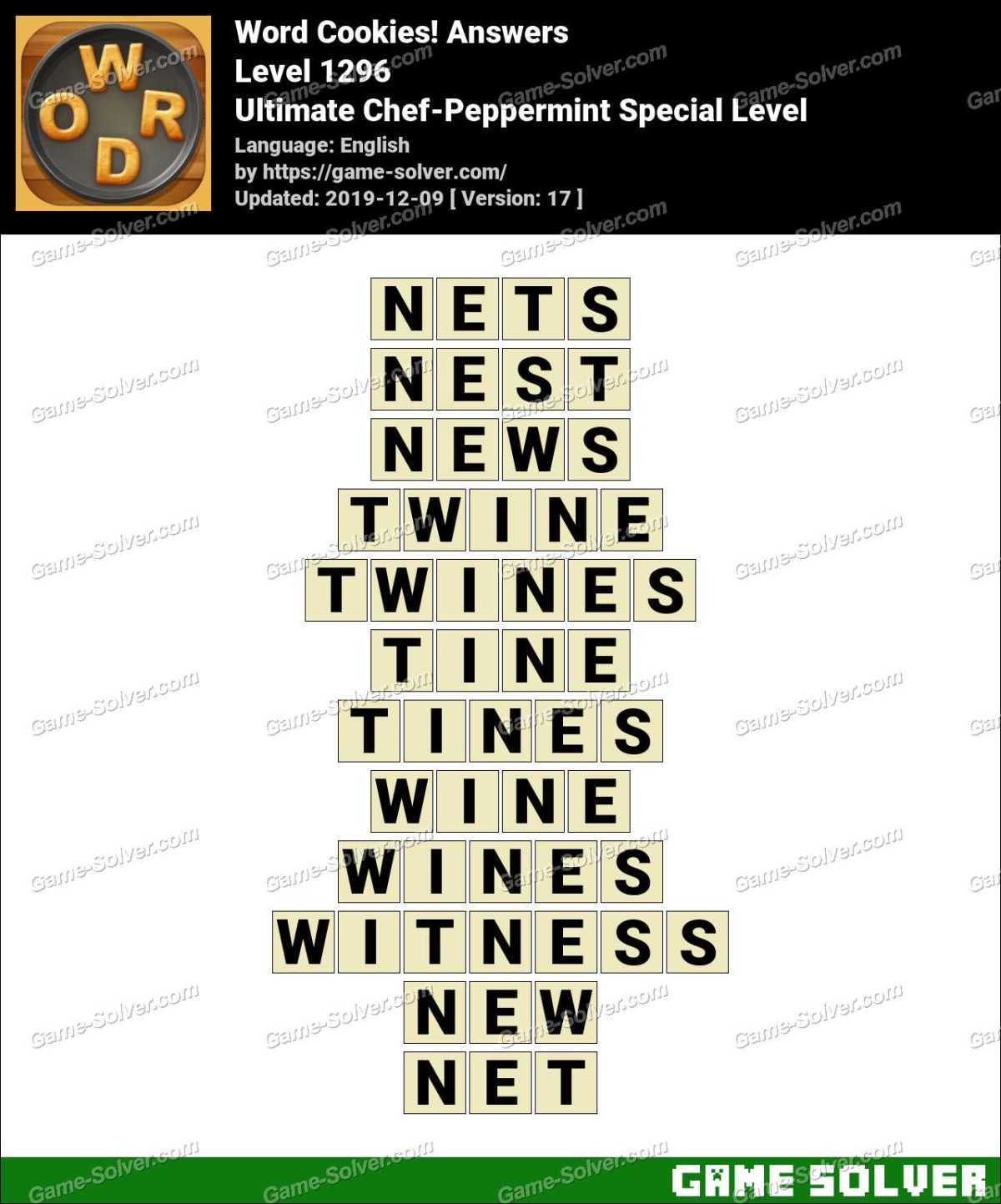 Word Cookies Ultimate Chef-Peppermint Special Level Answers
