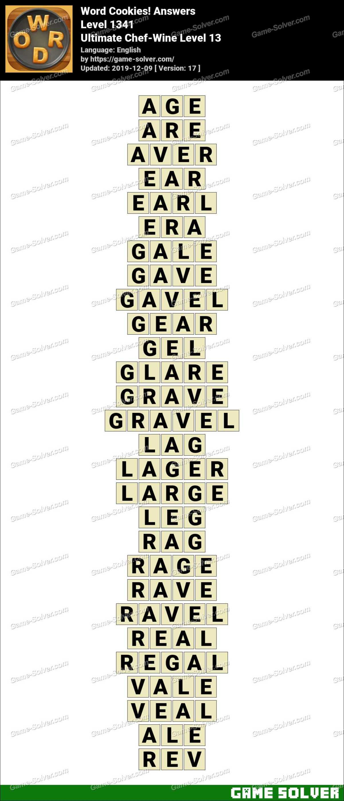 Word Cookies Ultimate Chef-Wine Level 13 Answers