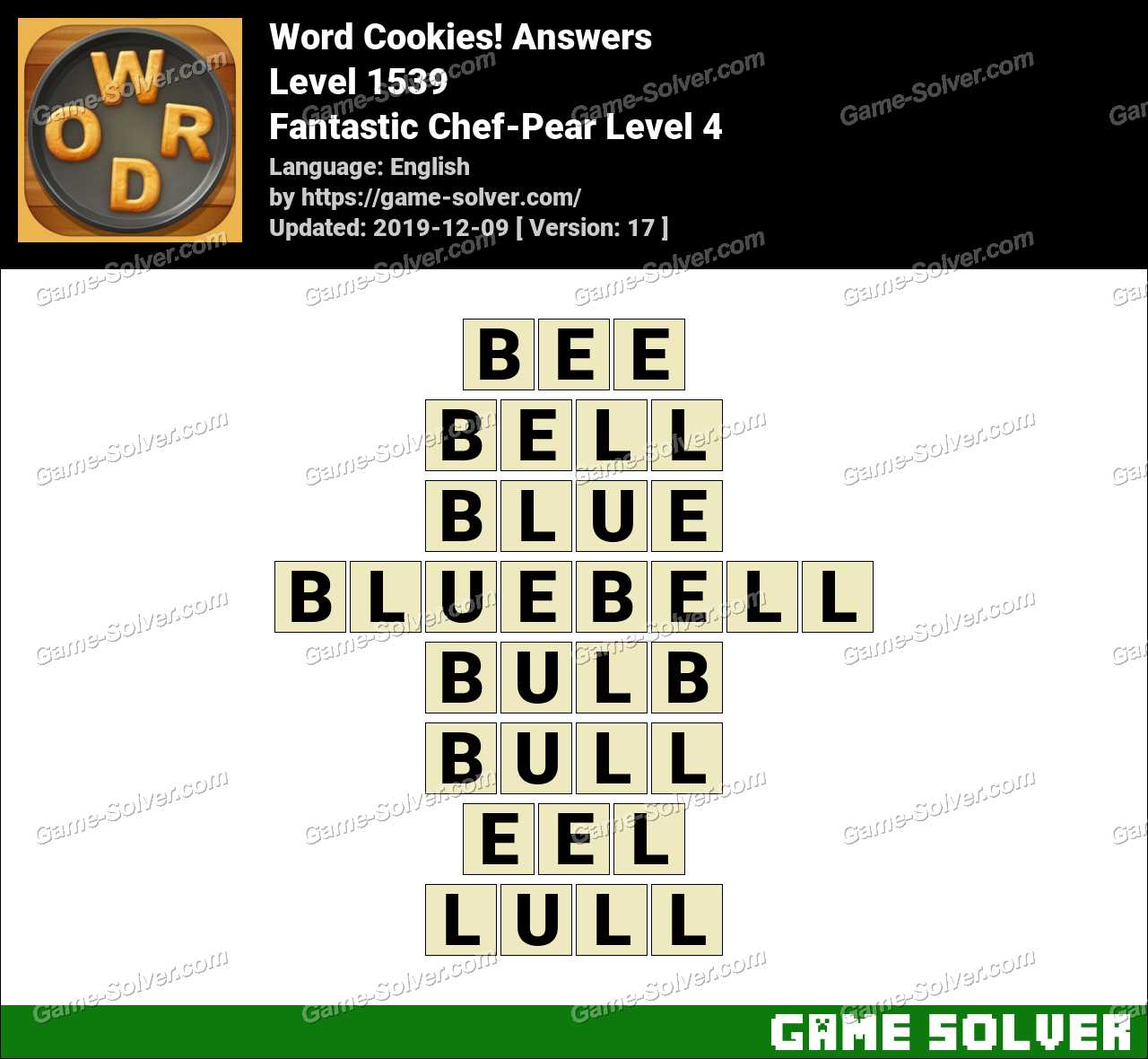 Word Cookies Fantastic Chef-Pear Level 4 Answers