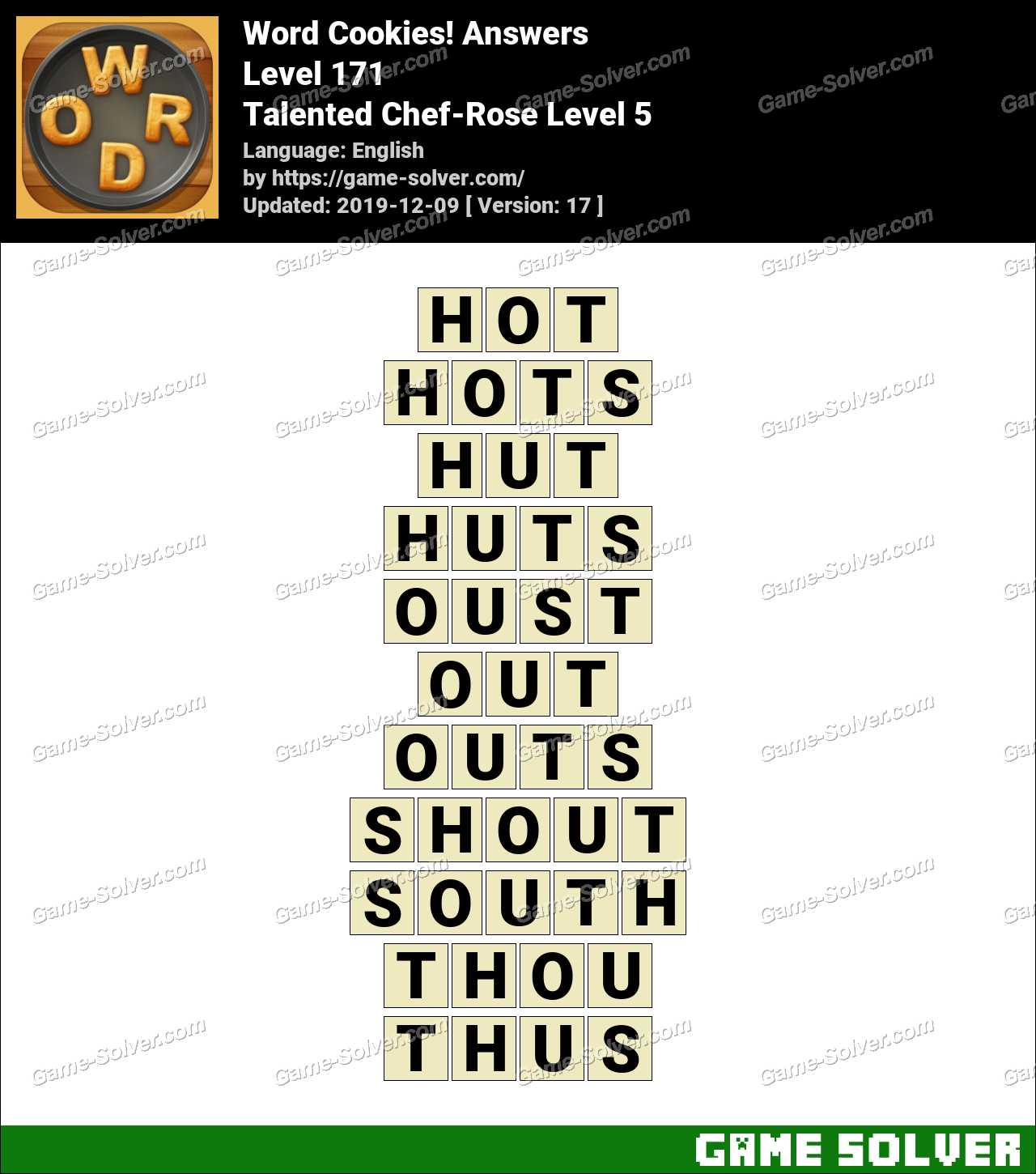 Word Cookies Talented Chef-Rose Level 5 Answers