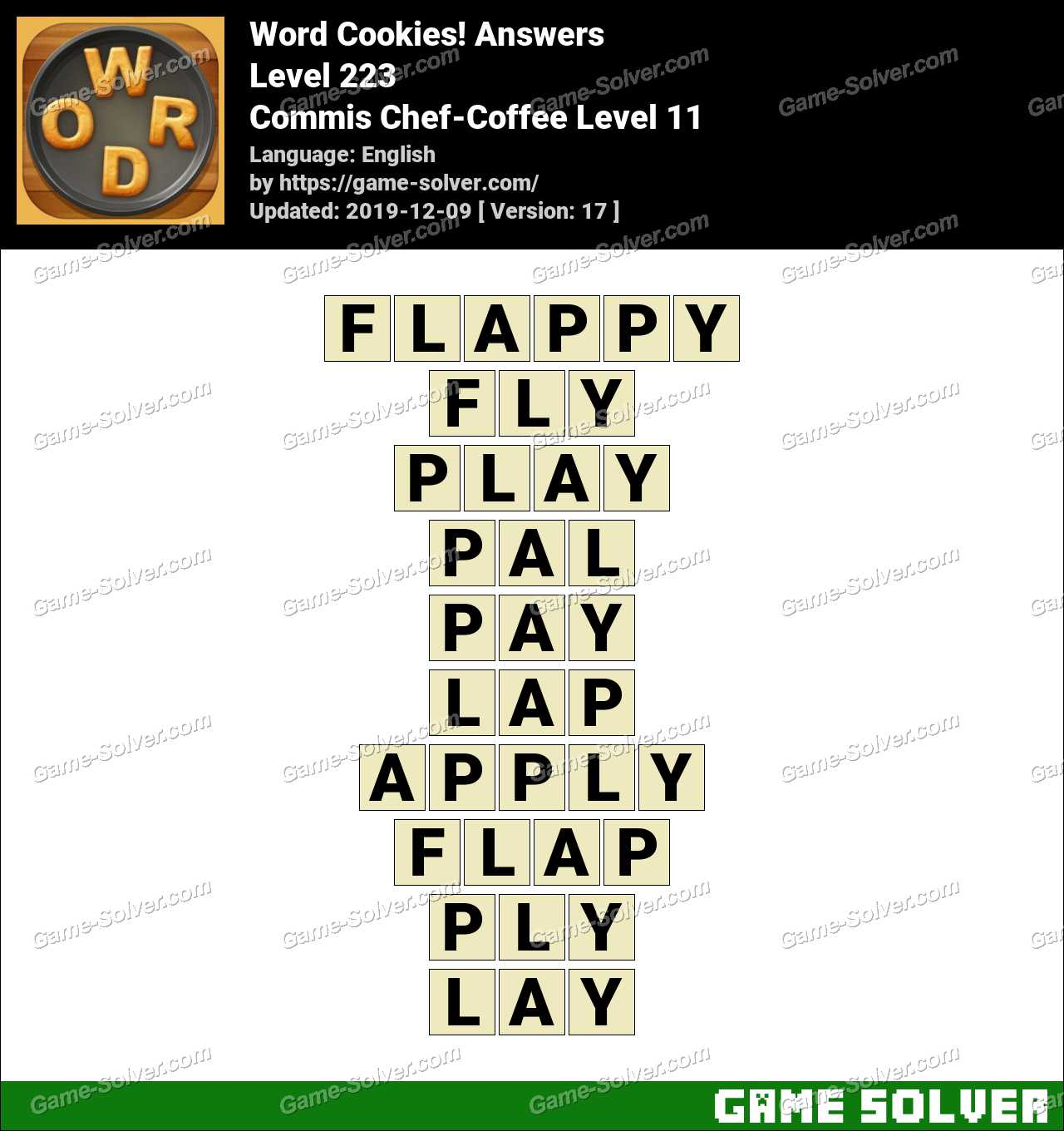 Word Cookies Commis Chef-Coffee Level 11 Answers