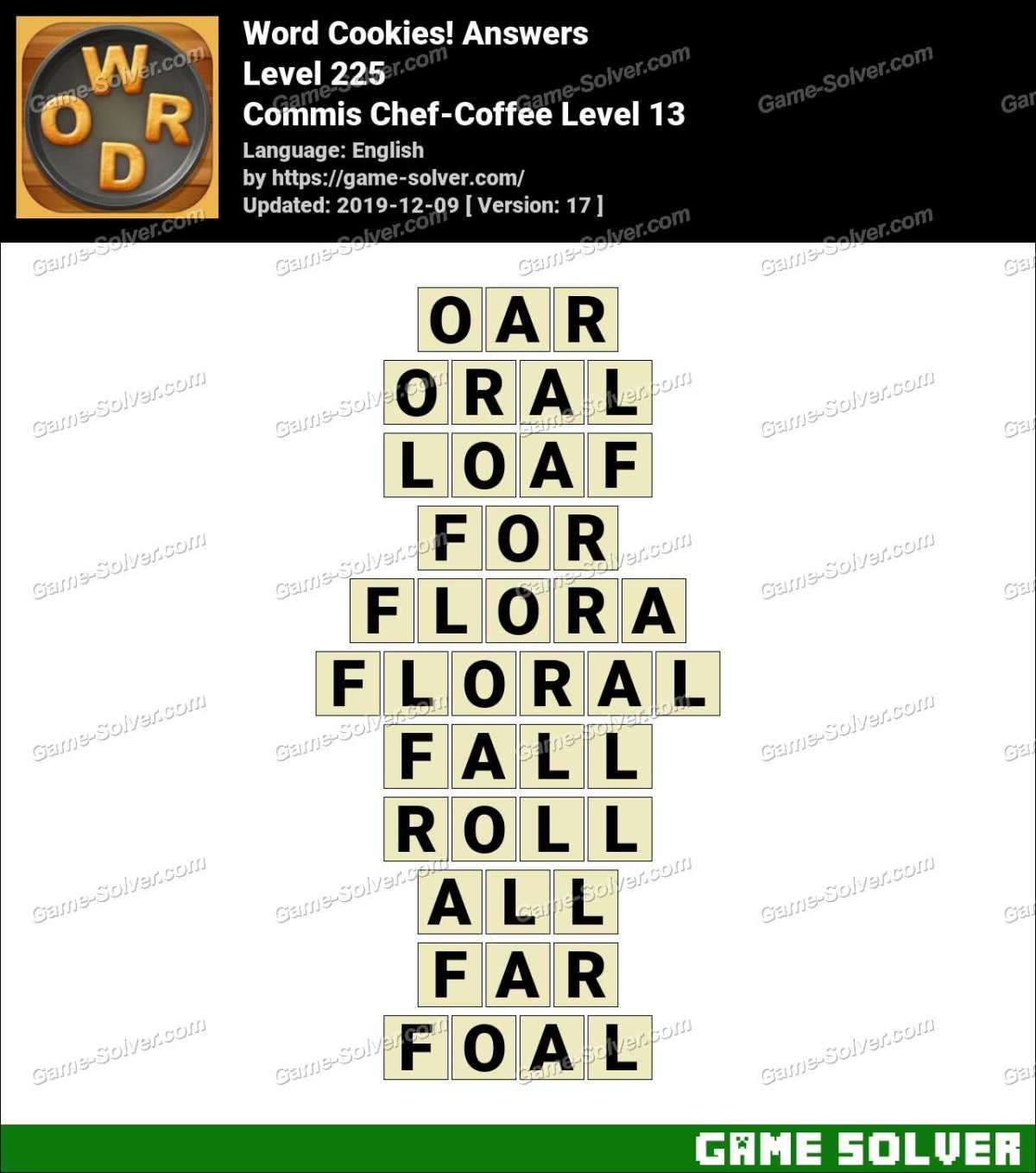Word Cookies Commis Chef-Coffee Level 13 Answers