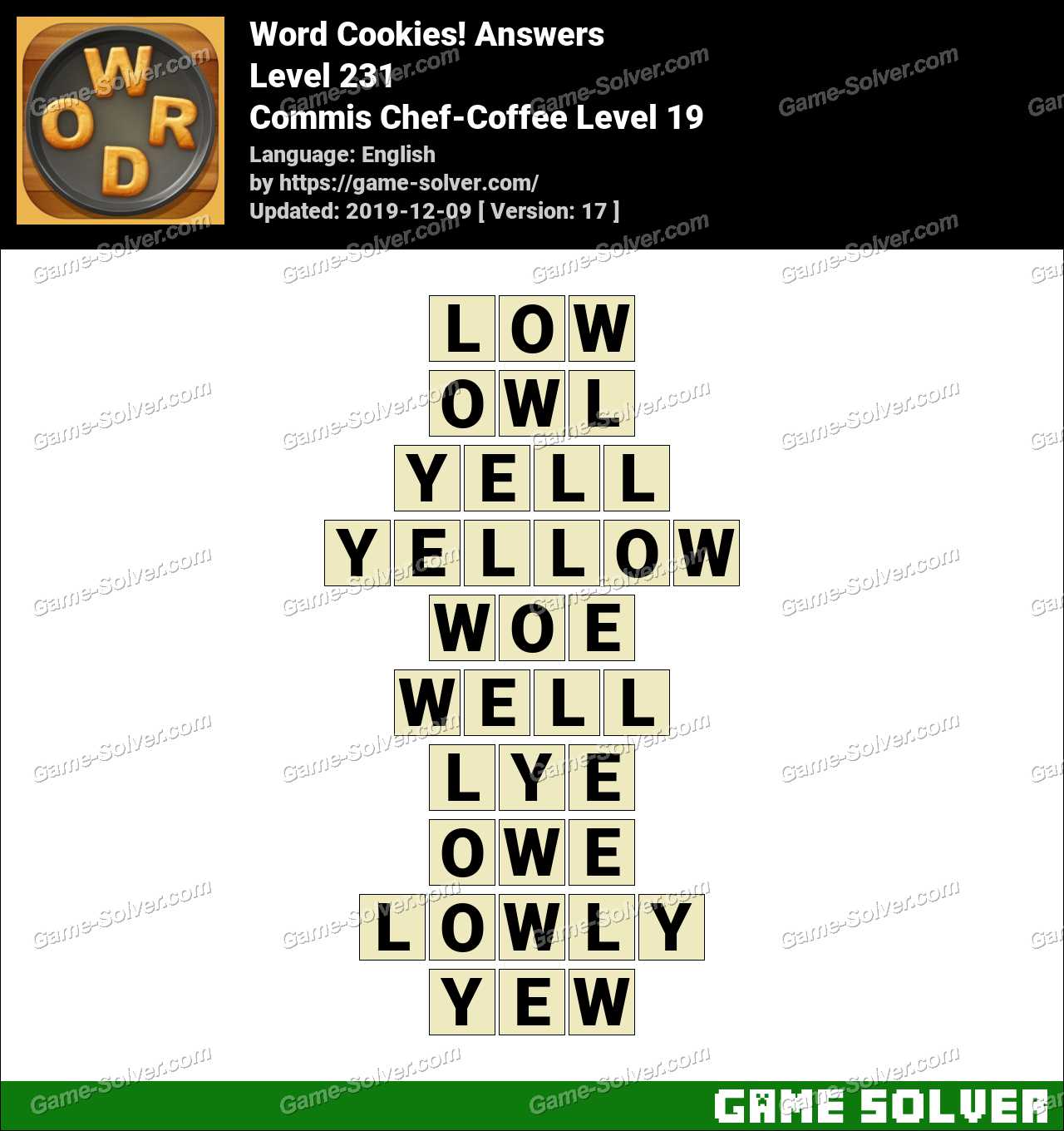 Word Cookies Commis Chef-Coffee Level 19 Answers