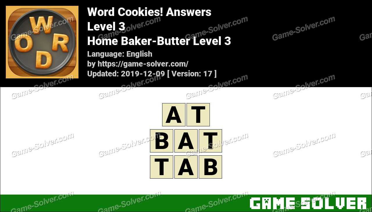 Word Cookies Home Baker-Butter Level 3 Answers