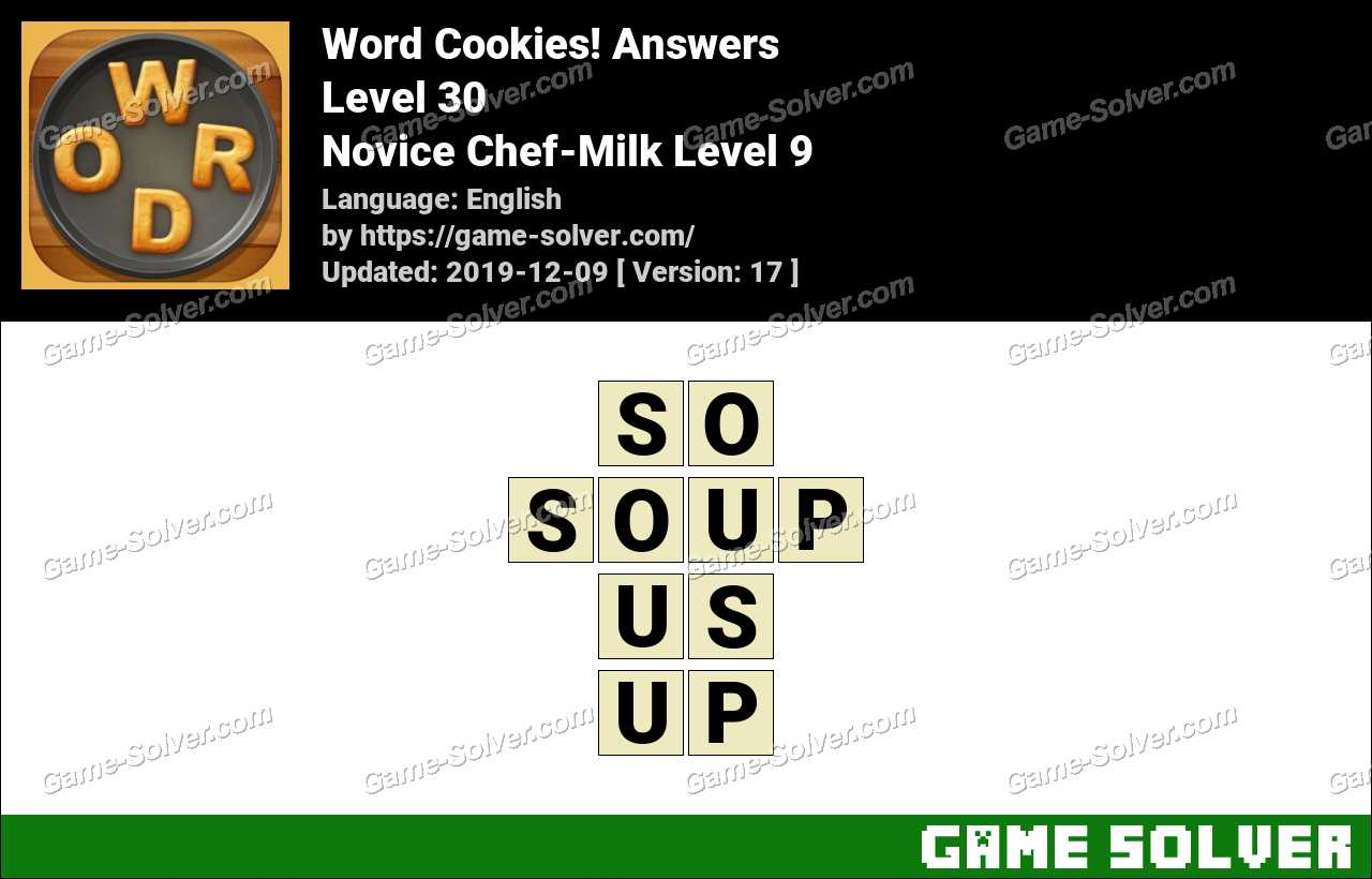 Word Cookies Novice Chef-Milk Level 9 Answers