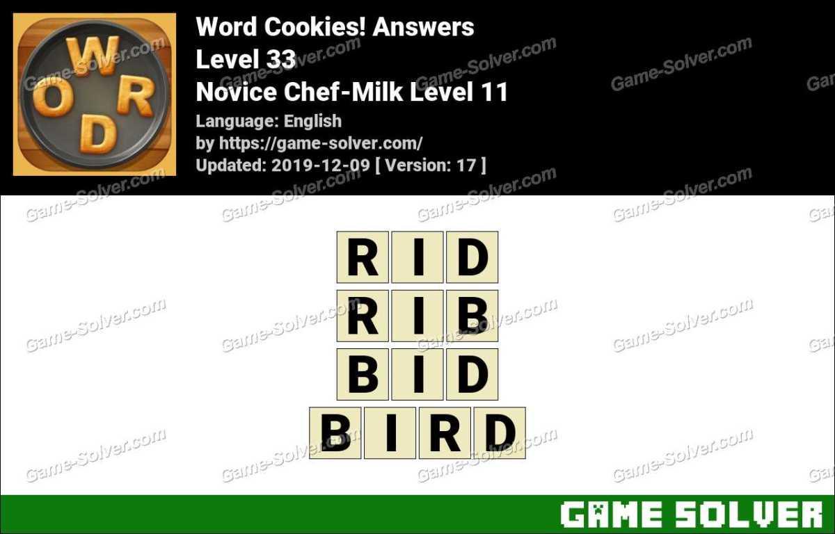 Word Cookies Novice Chef-Milk Level 11 Answers