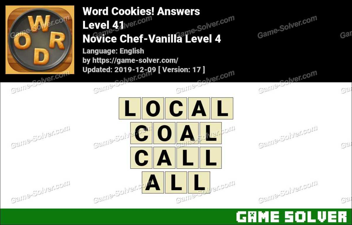 Word Cookies Novice Chef-Vanilla Level 4 Answers