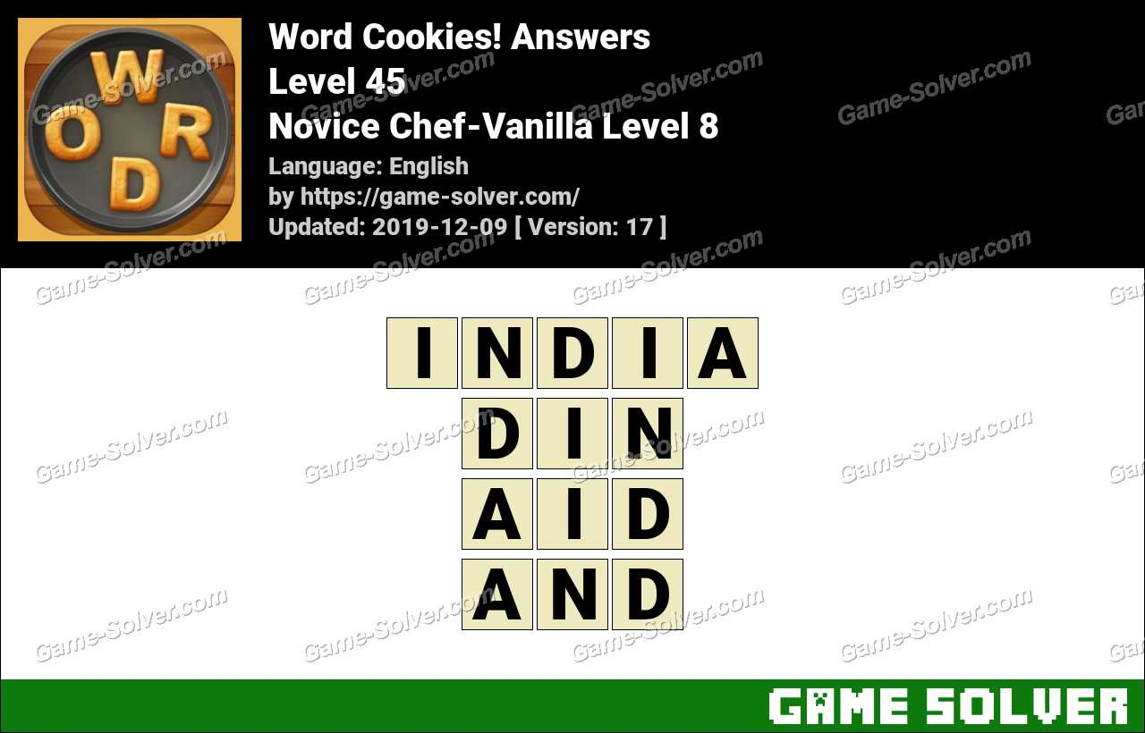 Word Cookies Novice Chef-Vanilla Level 8 Answers