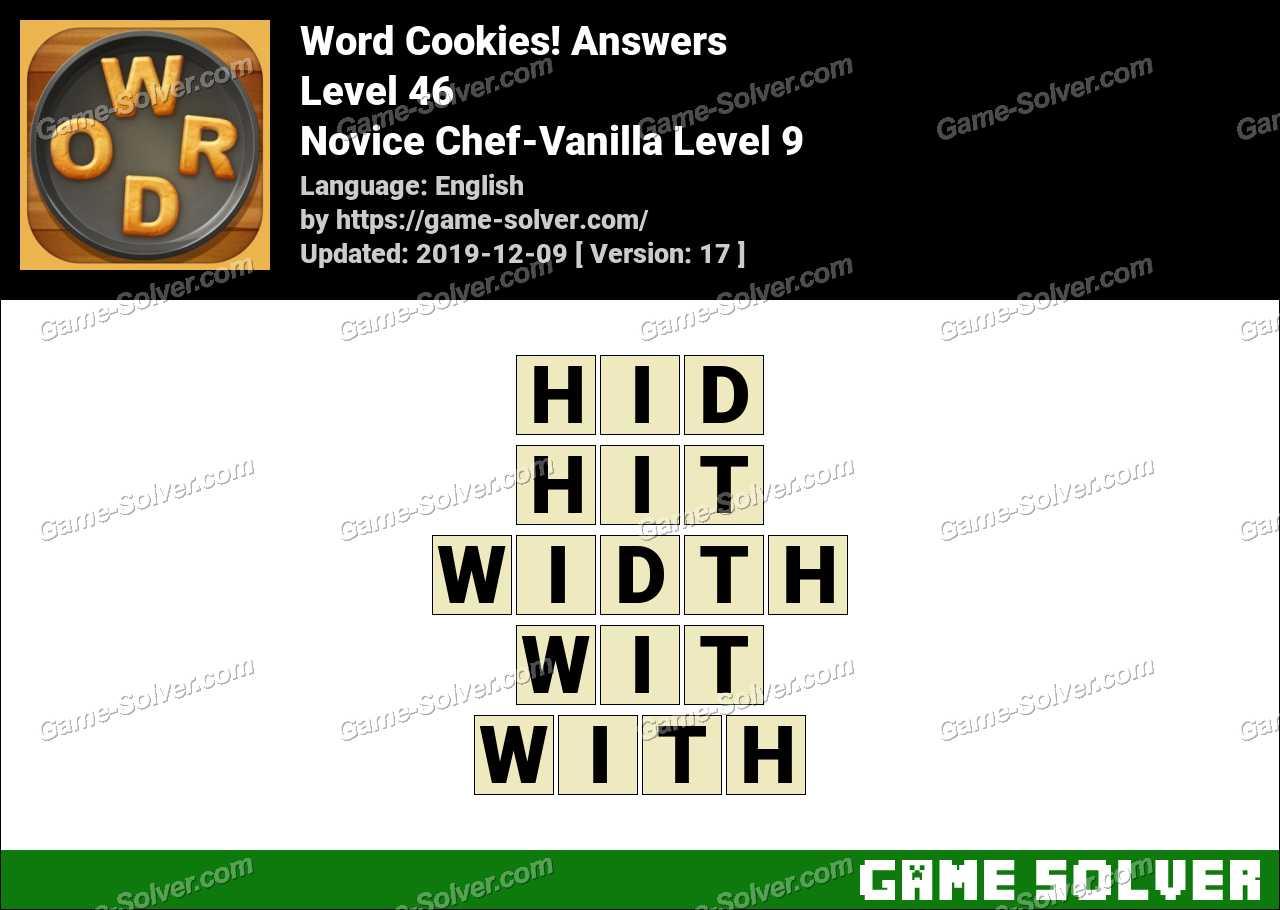 Word Cookies Novice Chef-Vanilla Level 9 Answers