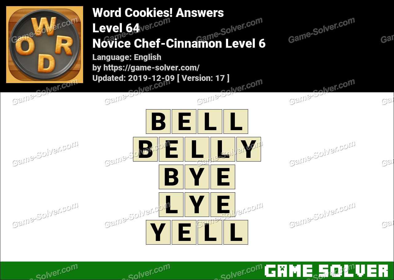 Word Cookies Novice Chef-Cinnamon Level 6 Answers