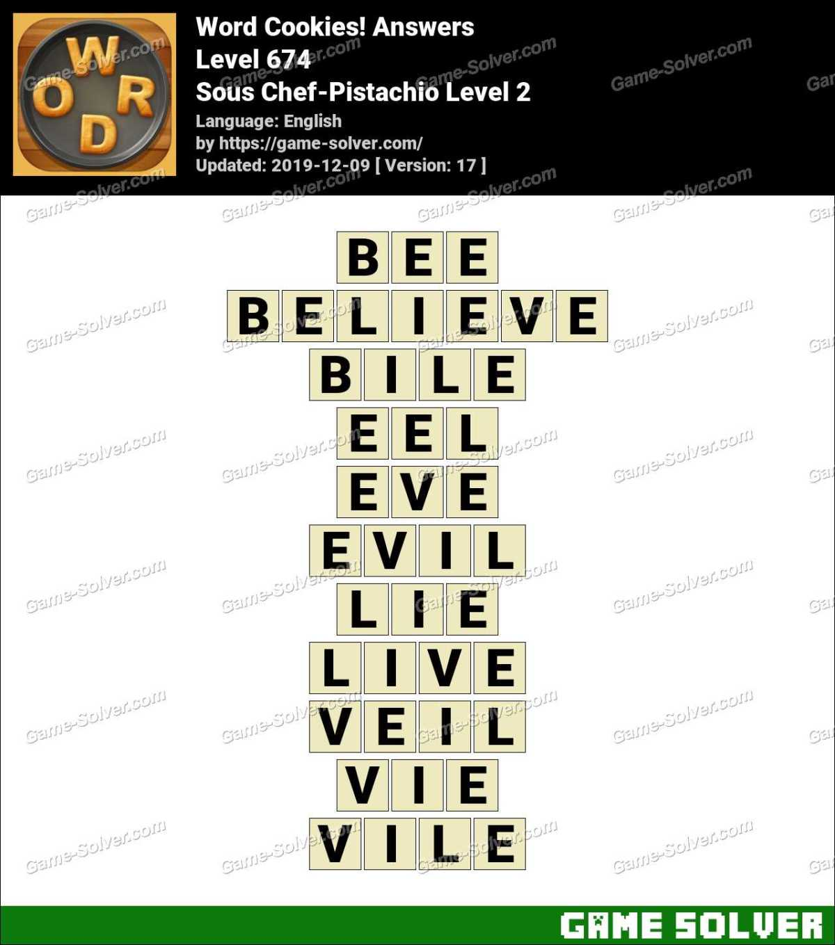 Word Cookies Sous Chef-Pistachio Level 2 Answers