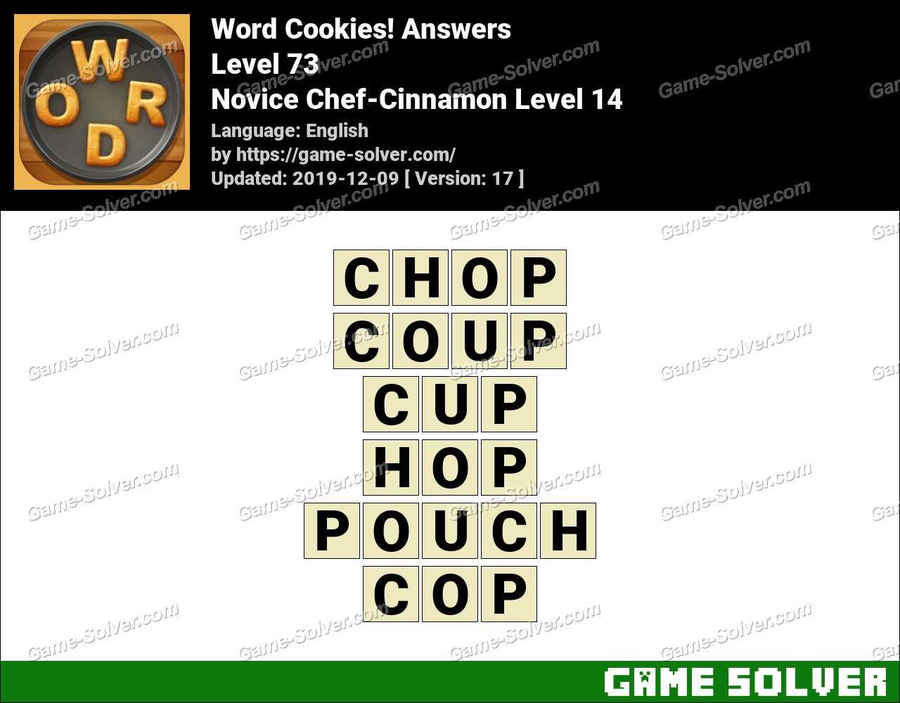 Word Cookies Novice Chef-Cinnamon Level 14 Answers