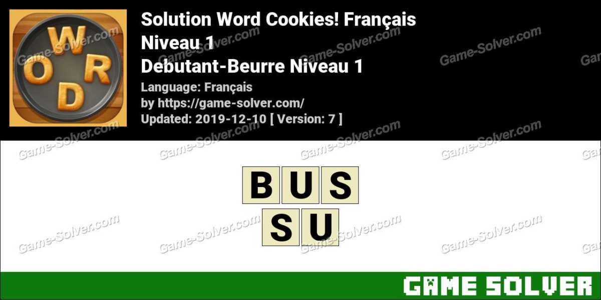 Solution Word Cookies Debutant-Beurre Niveau 1