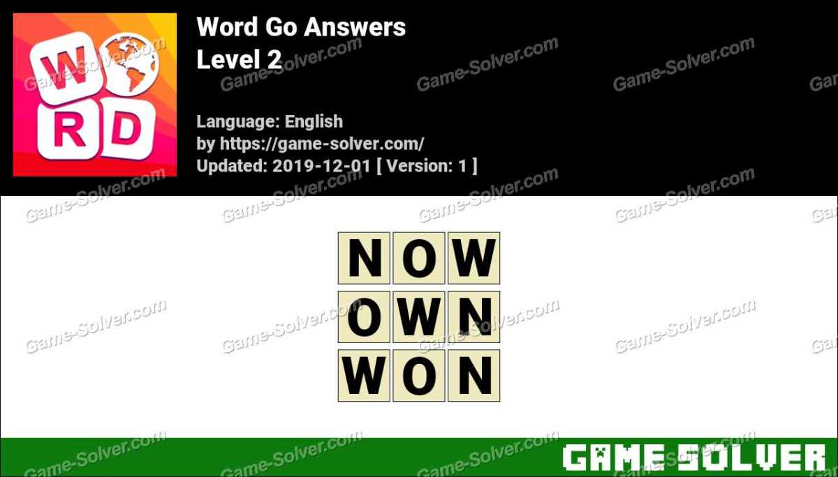 Word Go Level 2 Answers