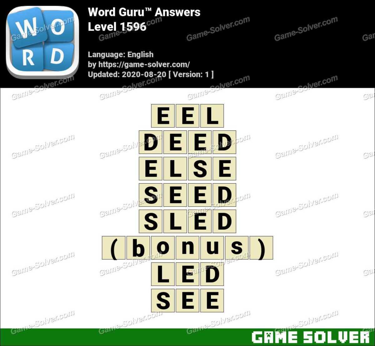 Word Guru Level 1596 Answers