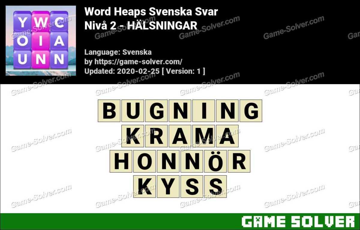 Word Heaps Nivå 2 - HÄLSNINGAR