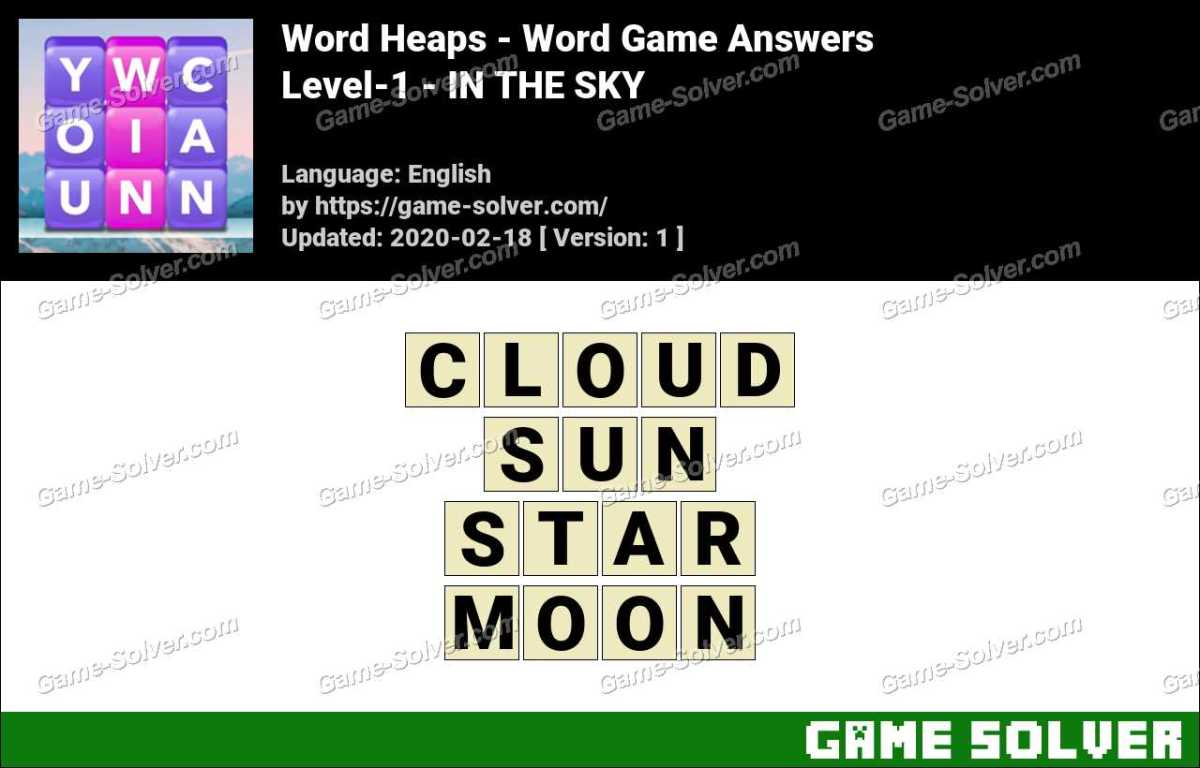 Word Heaps Level-1 -IN THE SKY