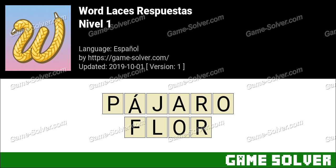 Word Laces Nivel 1 Respuestas