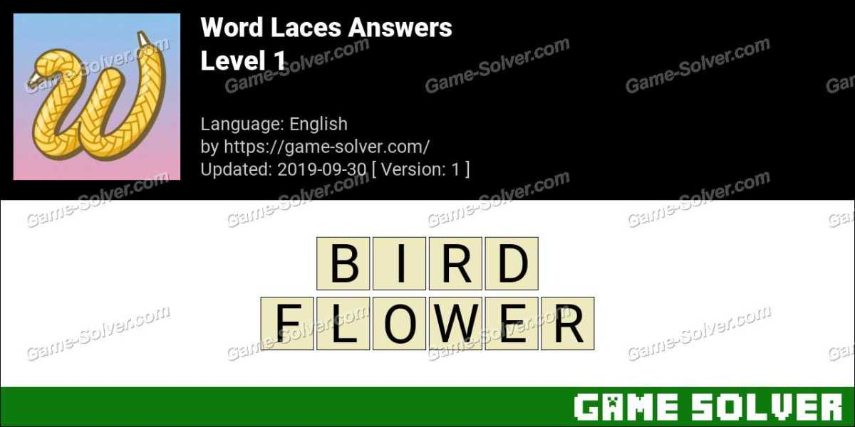 Word Laces Level 1 Answers