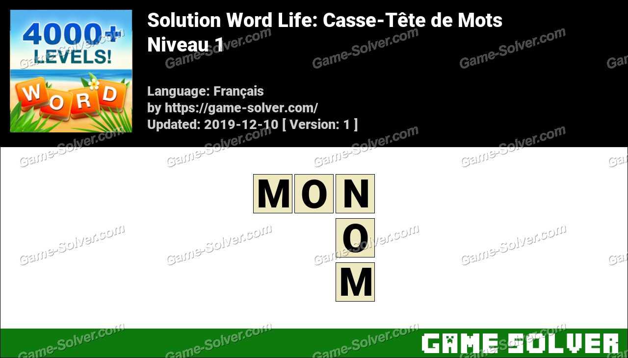 Solution Word Life Niveau 1