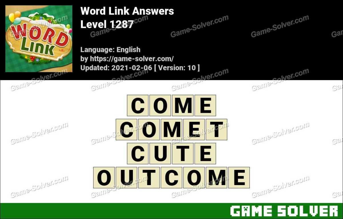 Word Link Level 1287 Answers
