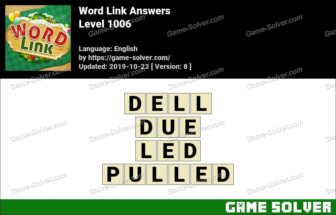 Word Link Level 1006 Answers