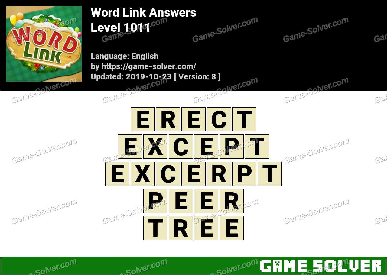 Word Link Level 1011 Answers