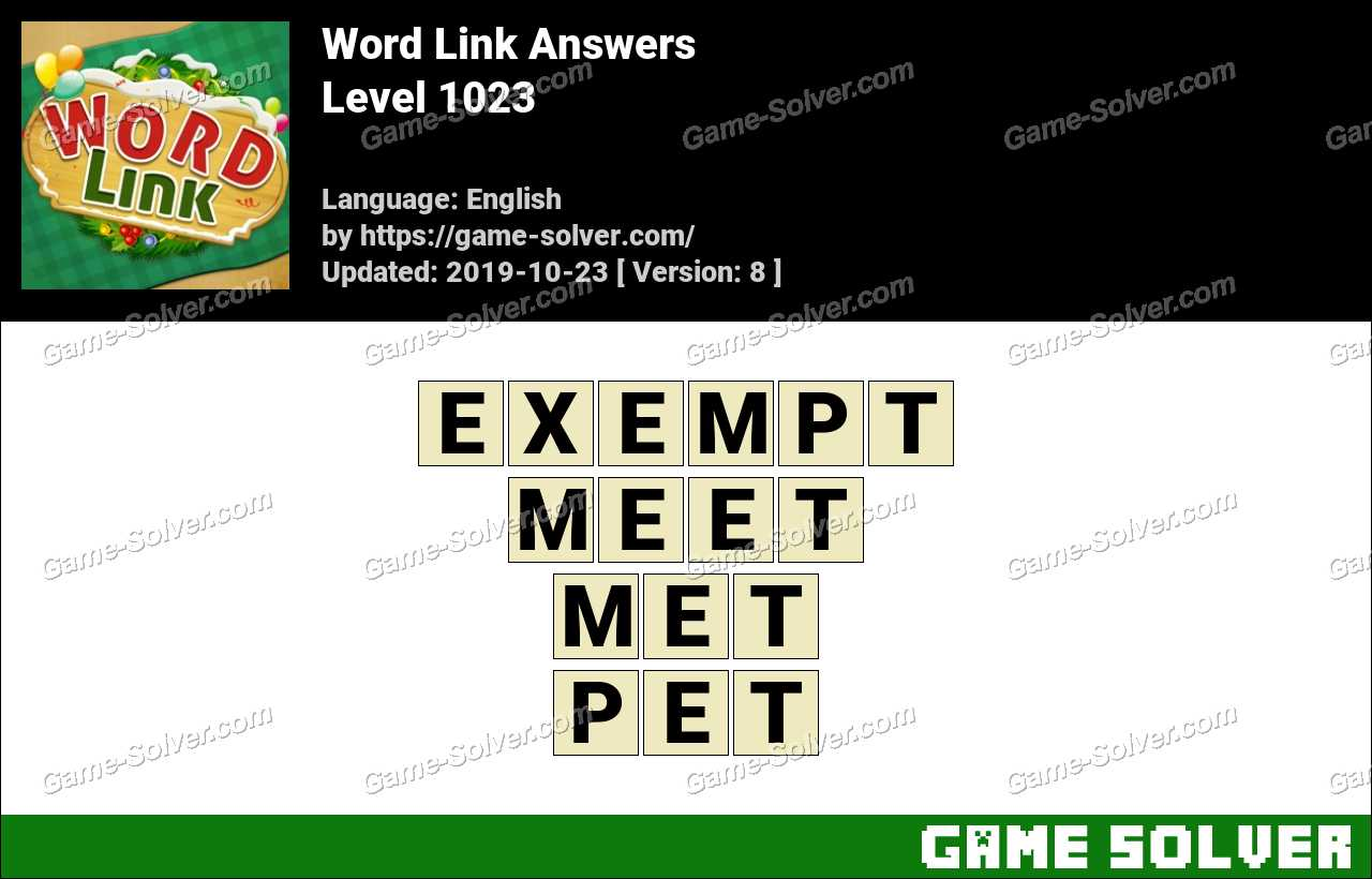 Word Link Level 1023 Answers