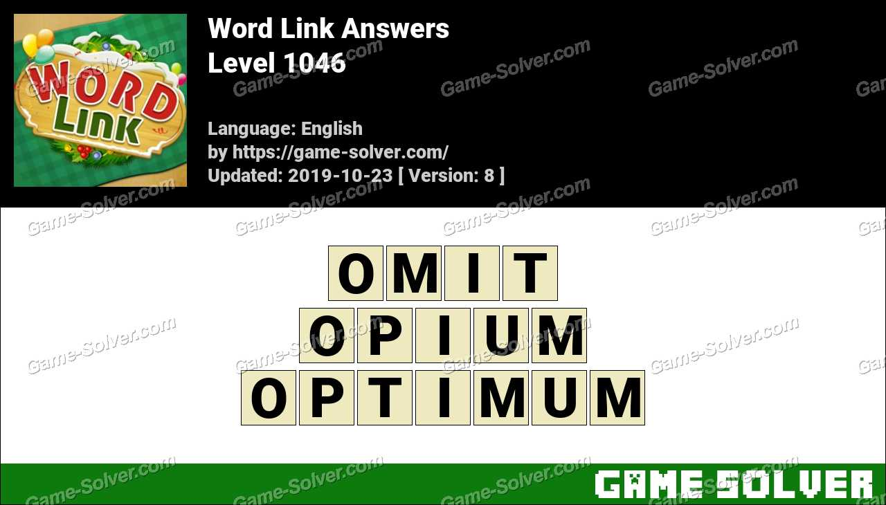 Word Link Level 1046 Answers