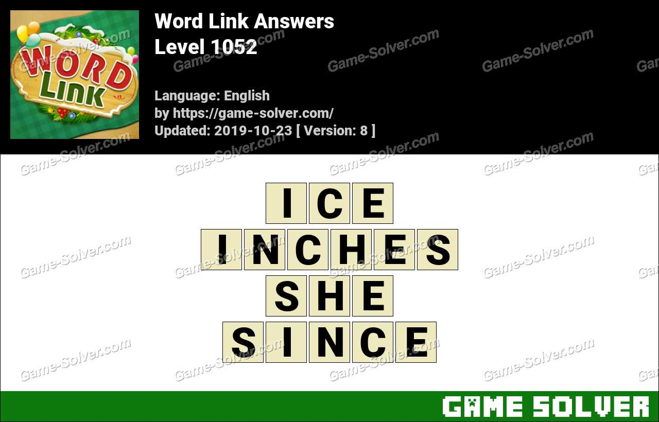 Word Link Level 1052 Answers