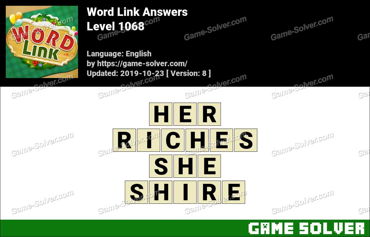 Word Link Level 1068 Answers