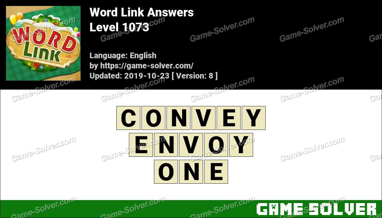 Word Link Level 1073 Answers