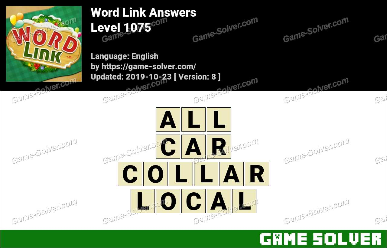 Word Link Level 1075 Answers