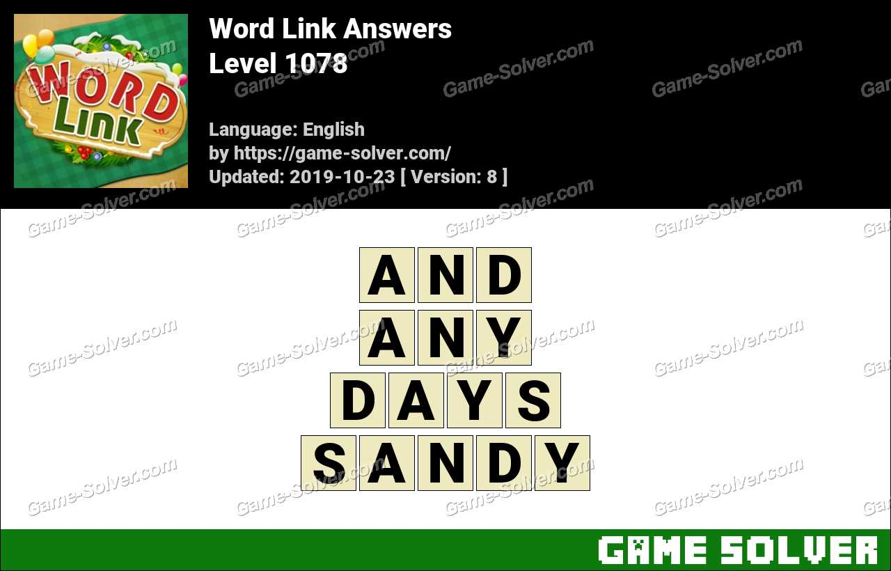 Word Link Level 1078 Answers