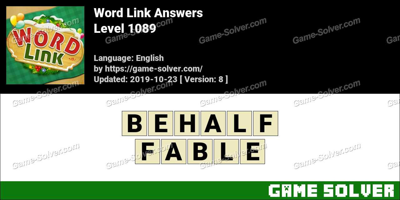 Word Link Level 1089 Answers