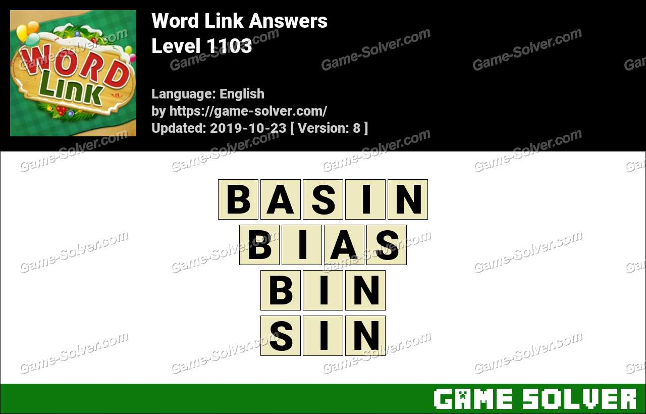 Word Link Level 1103 Answers