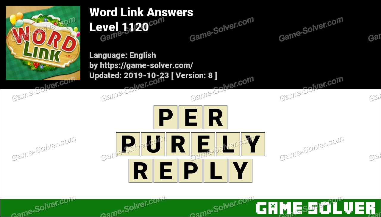 Word Link Level 1120 Answers