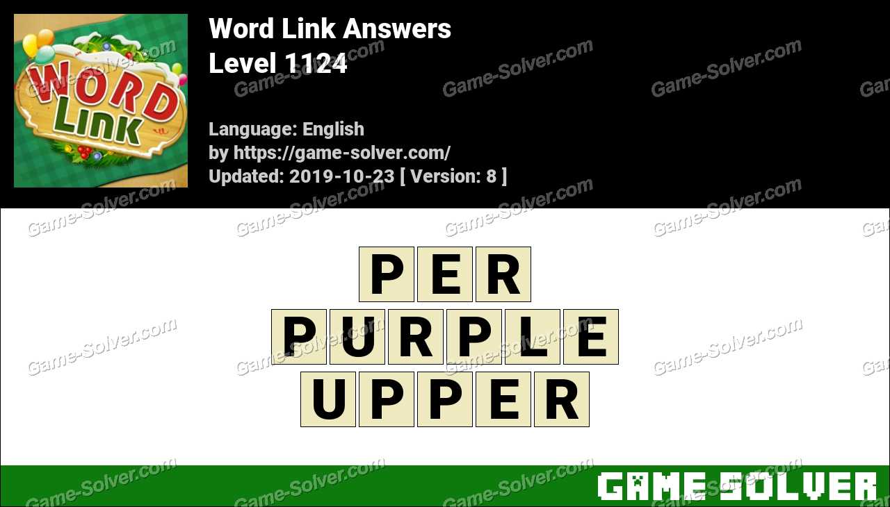 Word Link Level 1124 Answers