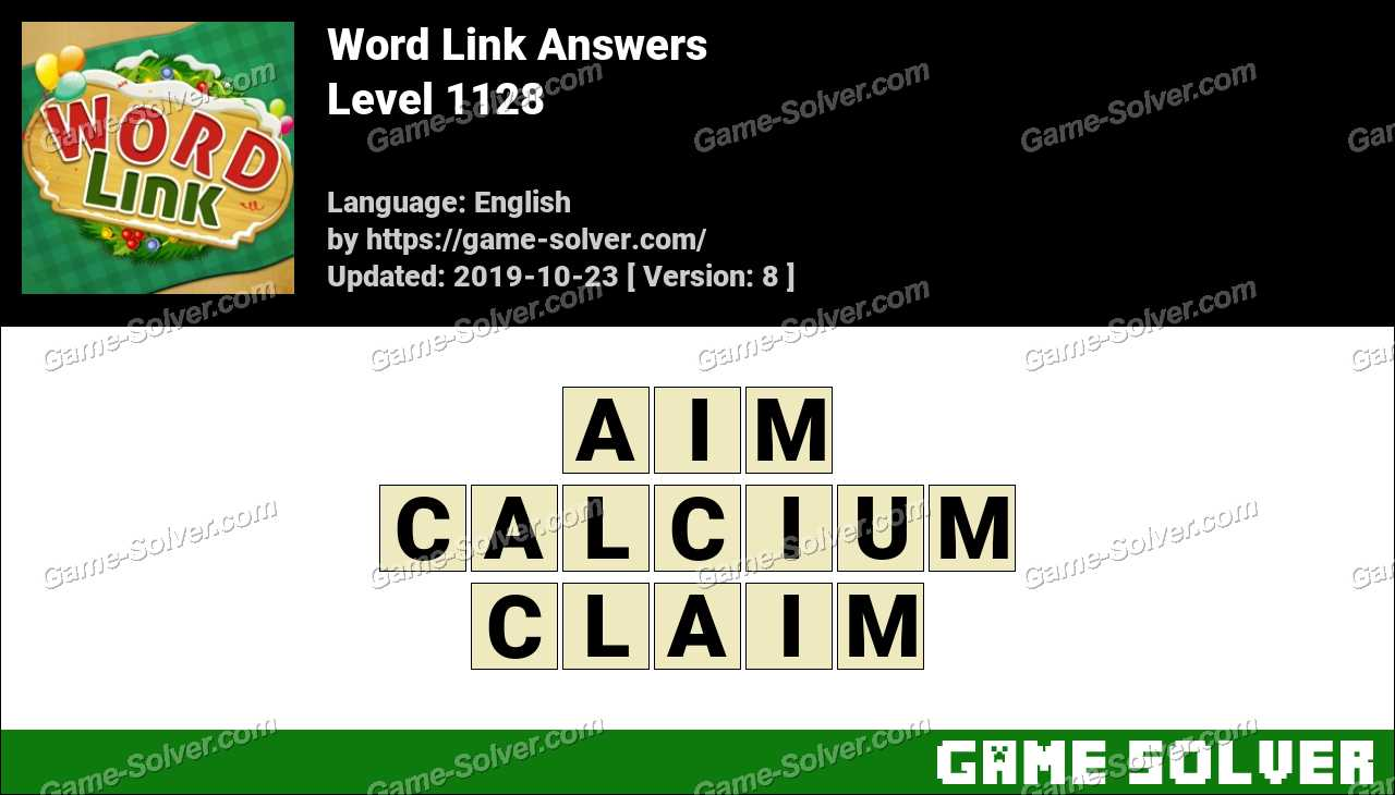 Word Link Level 1128 Answers