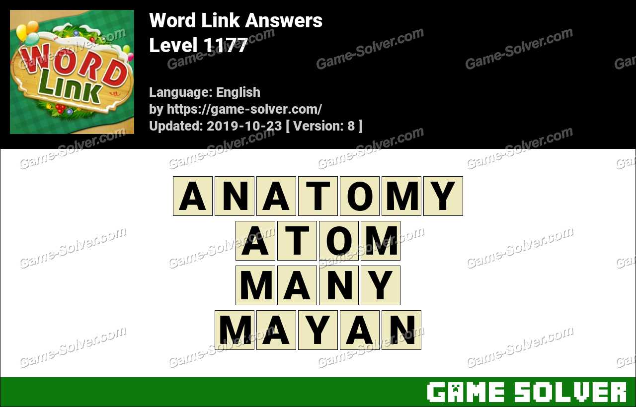 Word Link Level 1177 Answers