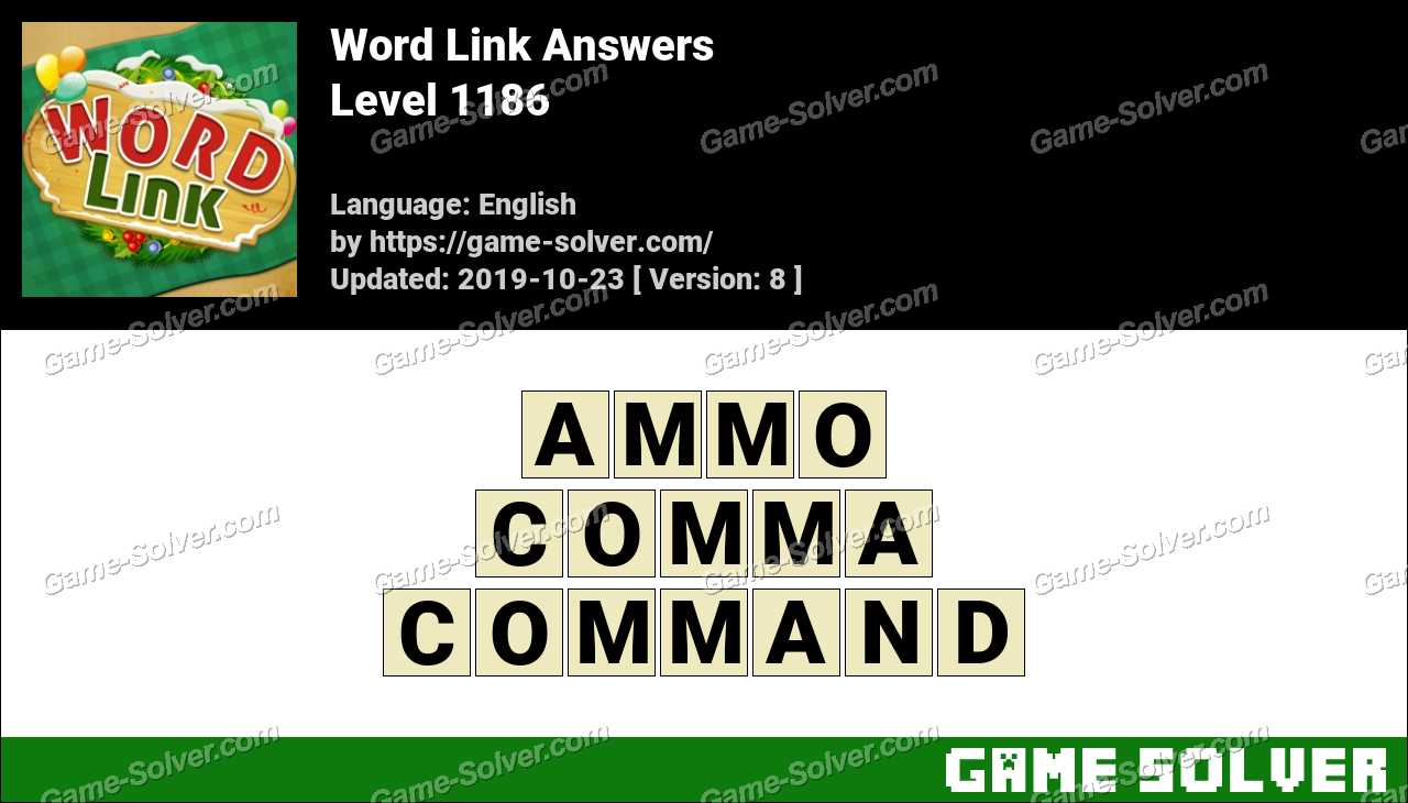 Word Link Level 1186 Answers