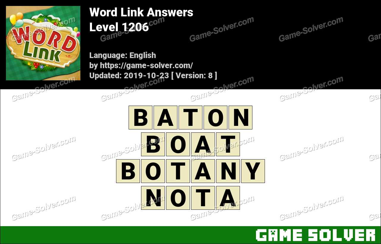 Word Link Level 1206 Answers