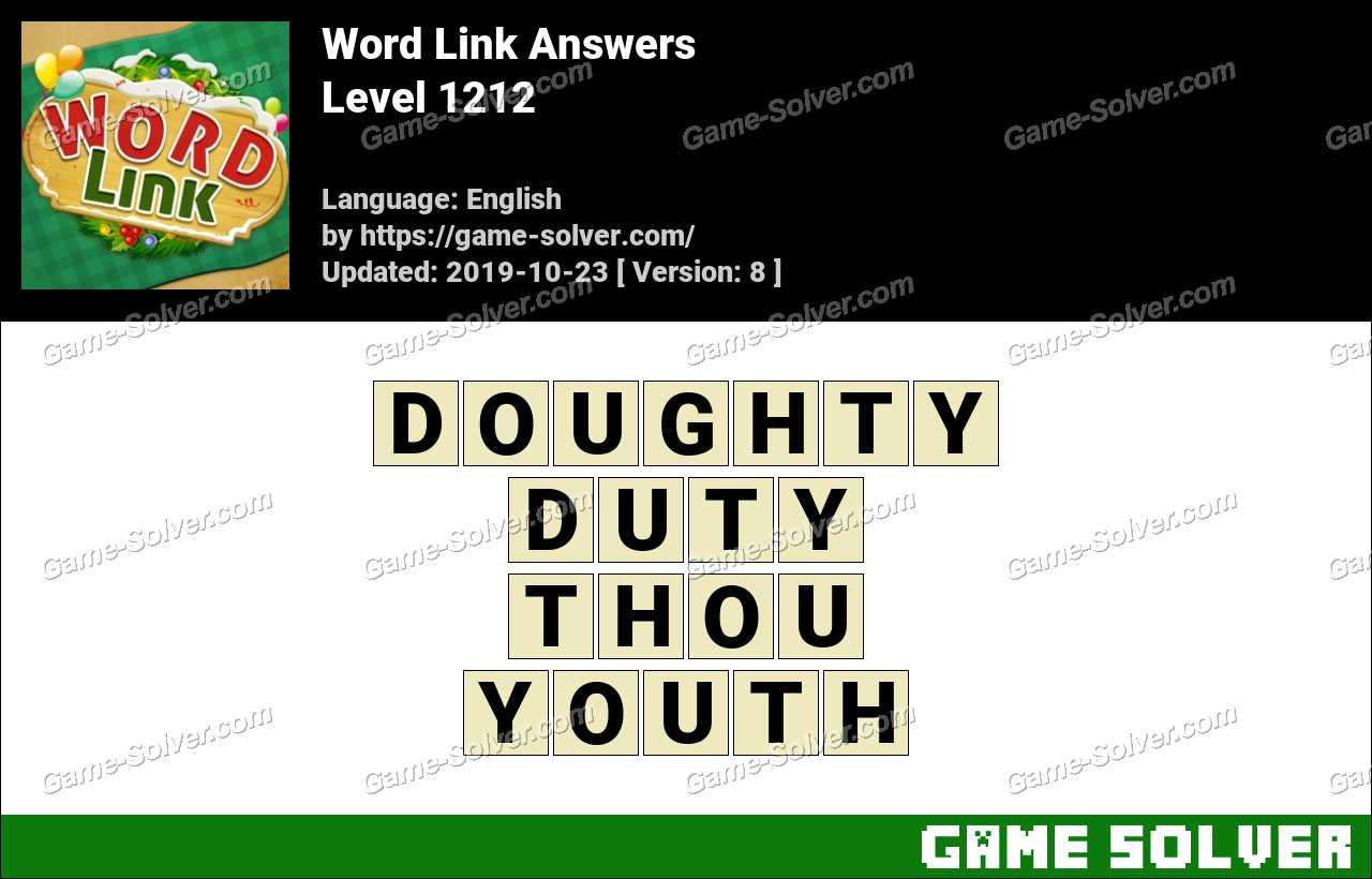 Word Link Level 1212 Answers