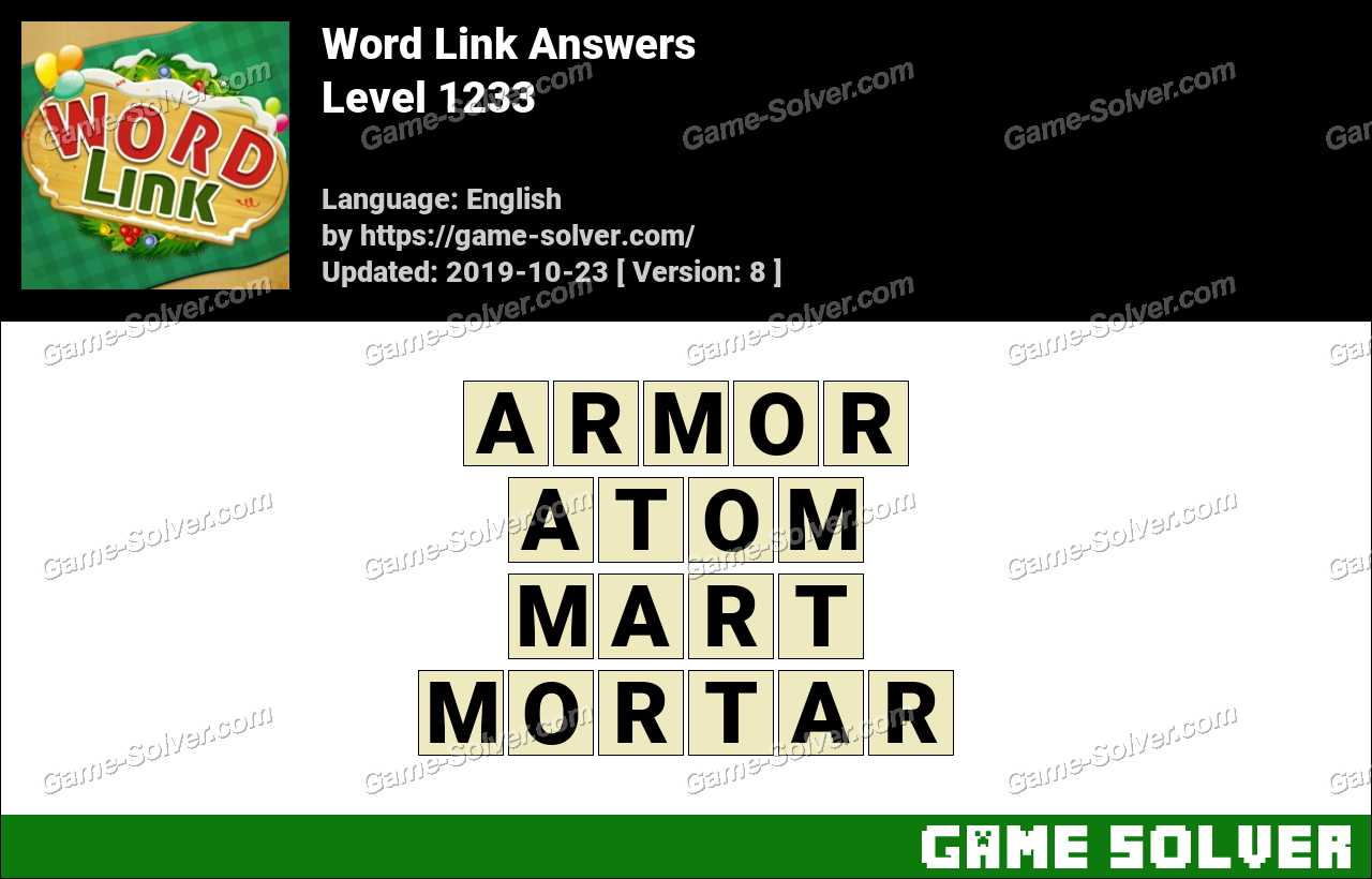 Word Link Level 1233 Answers