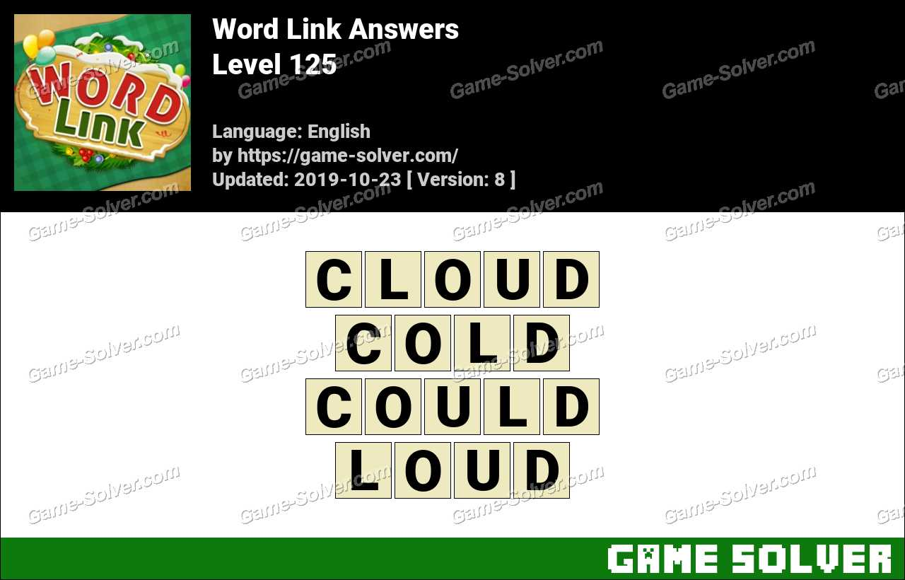Word Link Level 125 Answers