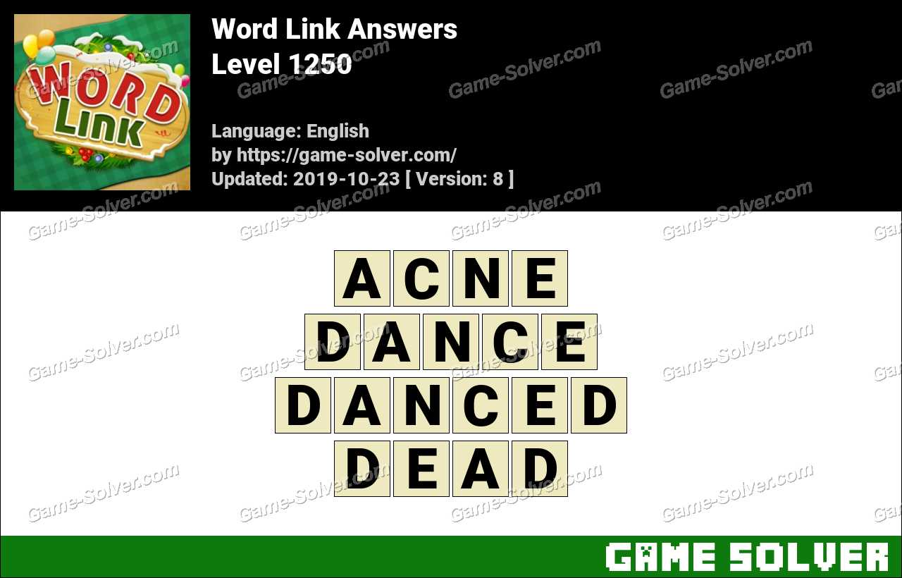 Word Link Level 1250 Answers