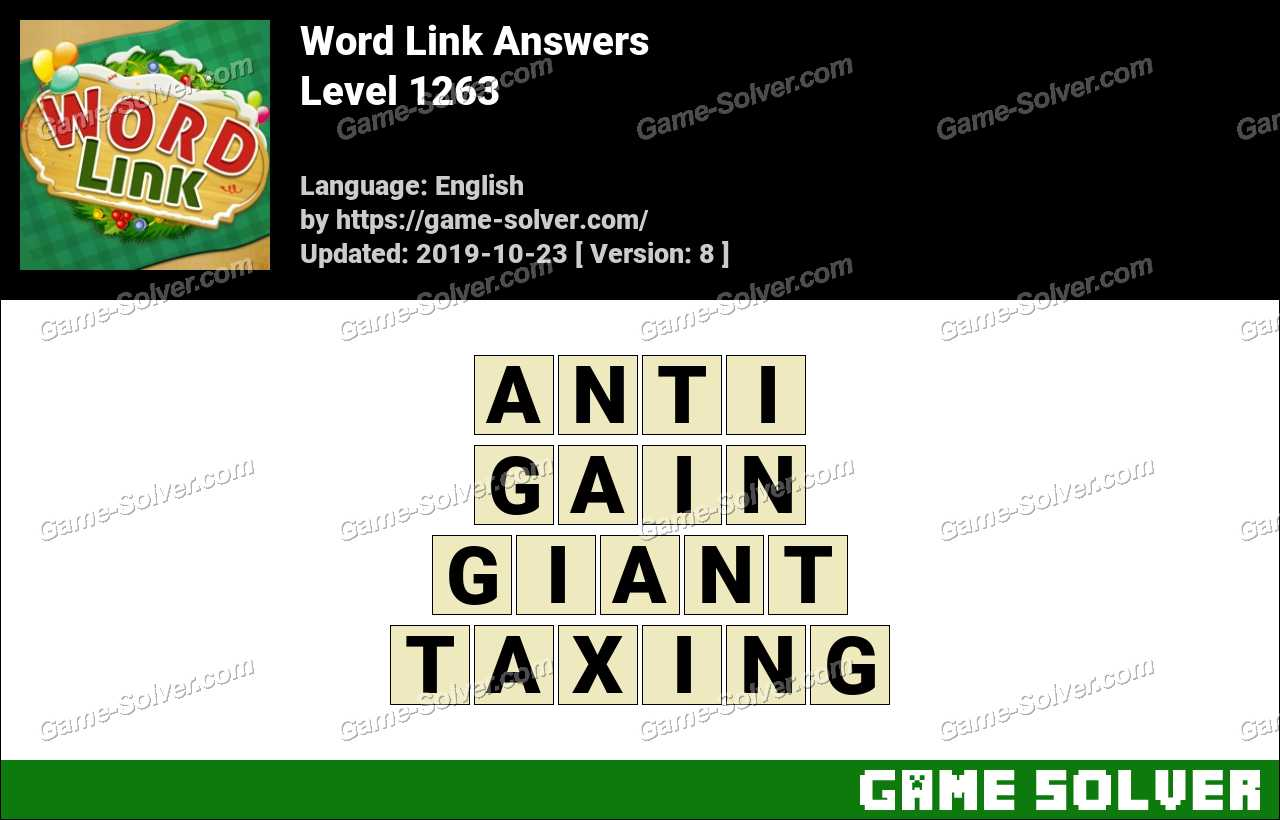 Word Link Level 1263 Answers