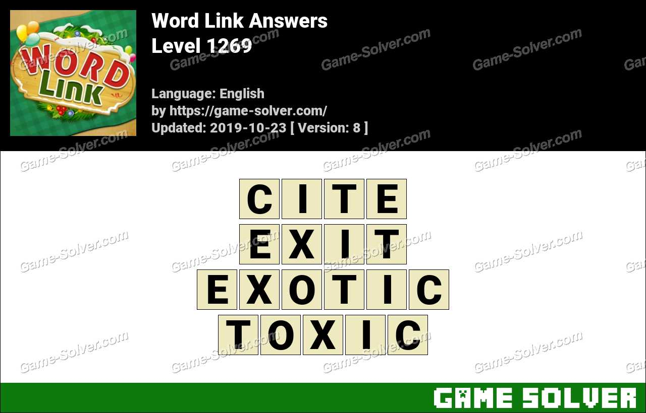 Word Link Level 1269 Answers