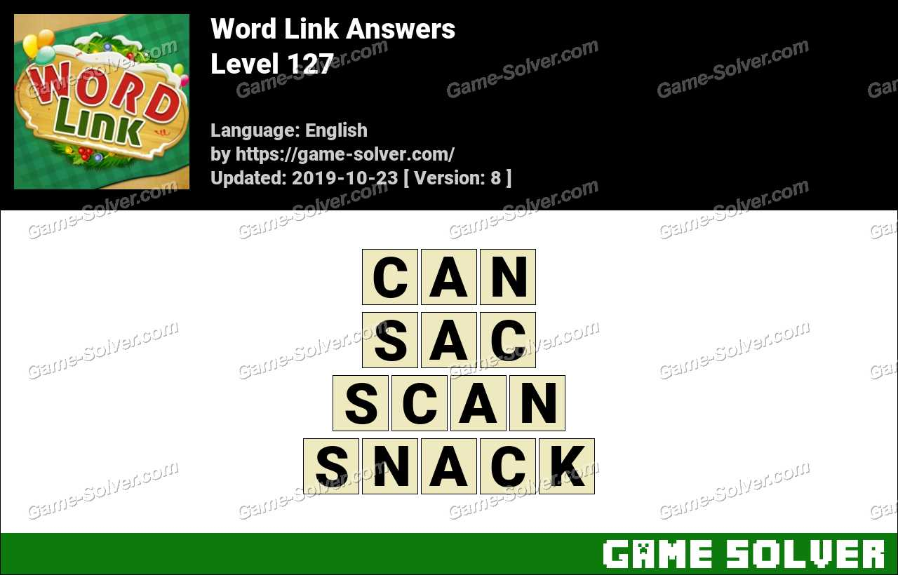 Word Link Level 127 Answers