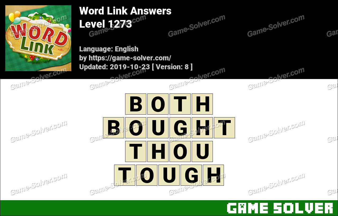 Word Link Level 1273 Answers